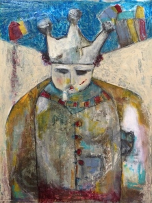 Le Roi triste - 2013 - Mixed Media panel - Sold