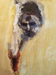 Flesh - 2014 - Mixed Media on Yupo paper - 26 x 16 inches