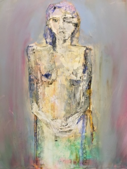 Woman - 2014 - Mixed media on Yupo paper- Sold