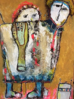 Lampião e Maria Bonita - 2014 - Mixed Media on wood panel - Sold