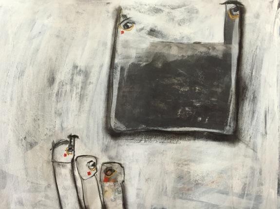 La famiglia - 2014 - Mixed media on watercolour paper - Sold