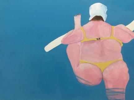 "Bath |2016| Gouache on 12 x 16"" (30 x 40.6 cm) panel | Sold"