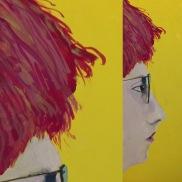 """Z"" |2016 | Gouache on 4 x 8 "" (10.16 x 20.3 cm) panel"