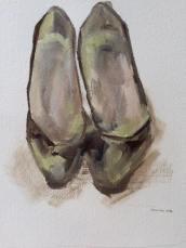 One Broken Shoe |2016 | Watercolor on paper